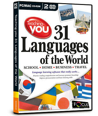 Teaching-you 31 Languages of the World - Software by Focus - NEW