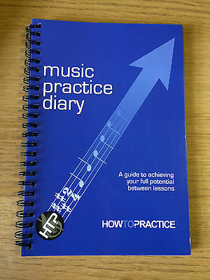 MUSIC PRACTICE DIARY / BOOK. Great for music tutors, lessons, schools, gift idea