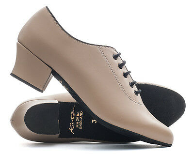 Tan Nude PU Suede Sole Lace Up Practice Jive Cerco Stage Line Dance Shoes Katz