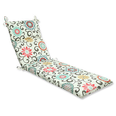 Pillow Perfect Pom Pom Play Outdoor Chaise Lounge Cushion
