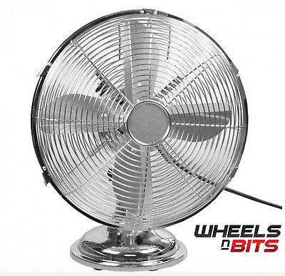 Chrome cooling fan boxed picclick uk for 12 inch high table
