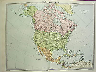 Us Map 1920.1920 Large Map North America Dominion Of Canada United States