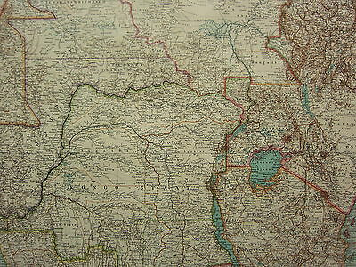 1907 Dated Map ~ Central East Africa ~ Congo State Congo District