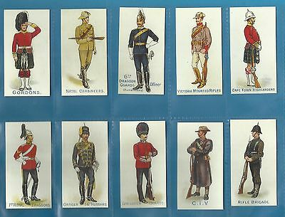 Orlando cigarette cards - HOME & COLONIAL REGIMENTS - Full mint condition set.