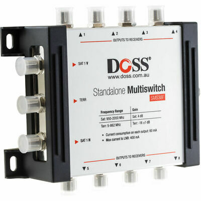 3in 8out Multiswitch TV Antenna Distributor Splitter F-TYPE for satellite/Foxtel