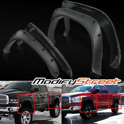 "For 02-08 Ram 1500/03-09 2500/3500 2.5"" Pocket Style Rivet Fender Flares Guard"
