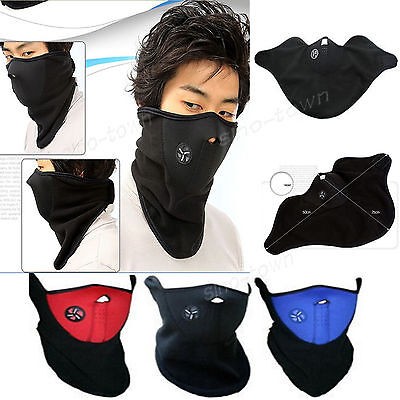 Motorcycle Accessories Bicycle Mask Fleece Thicken Cool Face Protector Dustproof
