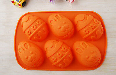 Easter Egg Rabbit Mold Flexible Silicone Mold Cake Mold Chocolate Soap Mould
