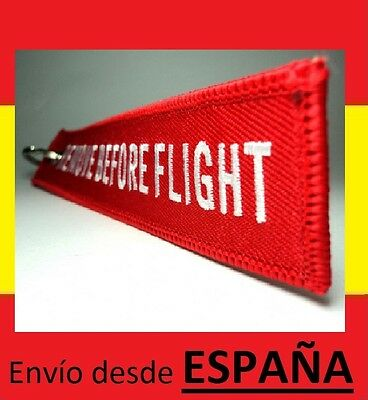 Llavero MOTORISTA REMOVE BEFORE FLIGHT avion viaje maleta equipaje ROJO llaves