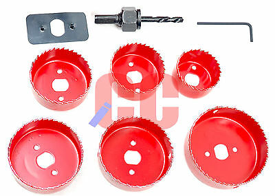9Pc Contractor Hole Saw Set Ceiling Drill Bit Cutter DIY Round Fitting Downlight