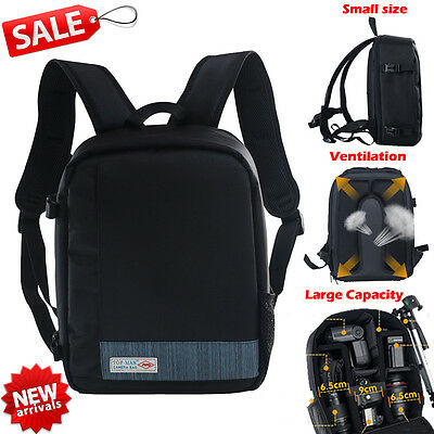 Waterproof DSLR Camera Lens Backpack Case Bag For Canon Sony EOS AU