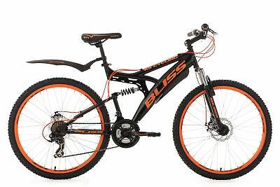 Mountainbike Mtb Fully 26 Zoll 21-Gang Bliss Schwarz-Orange Ks Cycling 532M