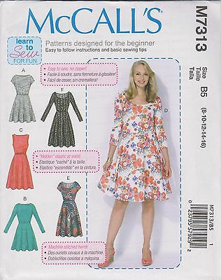 FROM UK Sewing Pattern Misses\'/Womens Dresses (6 styles) sizes 8 ...
