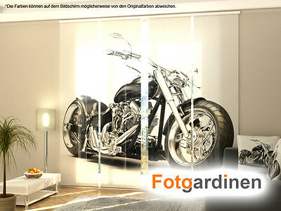 fotogardinen motorrad fl chenvorhang schiebegardinen mit motiv auf ma eur 15 00 picclick de. Black Bedroom Furniture Sets. Home Design Ideas