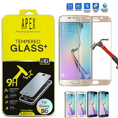 Full Curved Clear Tempered Glass Screen Protector for Samsung Galaxy S6 Edge