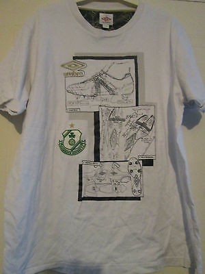 Shamrock Rovers Umbro Leisure Football graphic T Shirt extra large XL /39736
