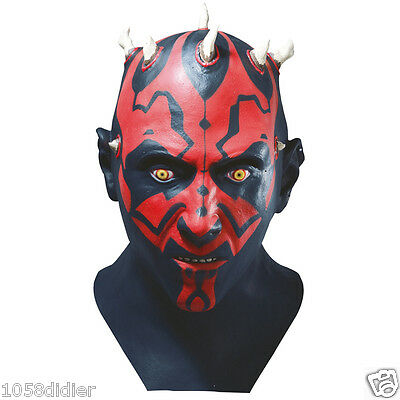 Masque latex luxe DARK MAUL Déguisement Homme Costume Adulte Star Wars