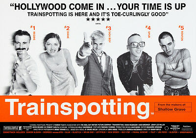 Trainspotting Glossy Poster Print Borderless Stunning Vibrant Sizes A1 A2 A3 A4