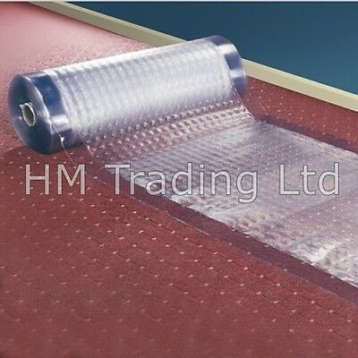 Custom Cut Anti Slip Textured Carpet Protector Roll Runner Film Clear Dust Sheet