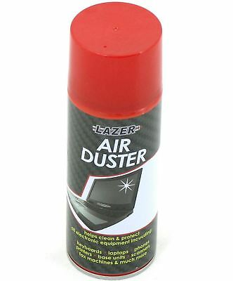 New Compressed Air Duster Spray Can 200ml Cleans Protects Laptops Keyboards