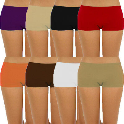 Womens Seamless Stretch Shorts Spandex Workout Mini Safety Bike Dance OS S M L