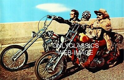 1969 Easy Rider Harley Davidson Choppers Poster Converted Old Police Motorcycle