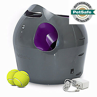 PetSafe Automatic Ball Launcher Interactive Dog Toy 2 Tennis Balls PTY00-14665