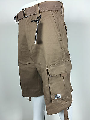 NTW Mens Pro Club Khaki Twill Cargo Shorts Casual Short Pro Club Waist 30 - 50