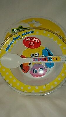 1 2 3 Sesame Street best Buddies Infant Feeding Set - Bowl And Spoon - BPA Free