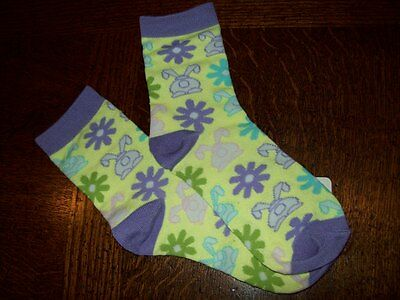 Nwt 5 Pairs Easter Bunny Ankle Anklet Socks Fits Size 6-8 Sock