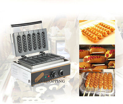 Non-Stick Cooking Electric Hot Dog Muffin Lolly Waffle Maker Kitchen  Appliance