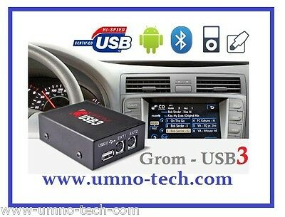 GROM BMW USB3 MP3 vorverkabelt,E46,E38, E39,Z4,X3,X5, BMW Mp3 Player ID3-Text