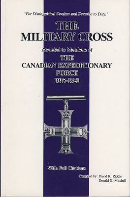 Military Cross 1915-21 to Canadians Catalog (10749)
