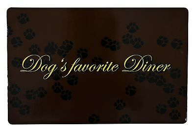 Trixie Non Slip Place Mat /Floor Mat / Food Bowl Dog/ Puppy 24548 Brown/ Black