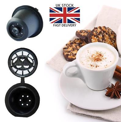 10 x Refillable Reusable Capsules Pods For Nespresso Coffee Machines