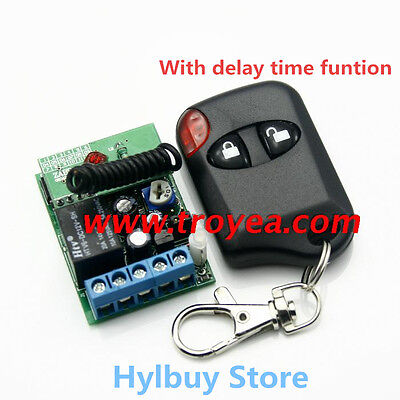 DC 12v Relay Wireless Remote Control RF Switch On/off Switch + Delay Time Timer