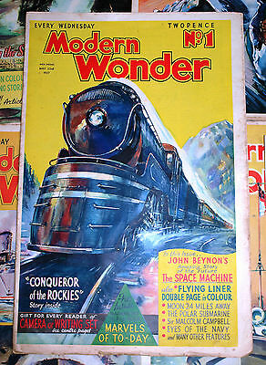 22 Modern Wonder Magazine Volume 1 May to October 1937 22 issues