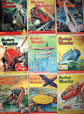 30 Modern Wonder Magazines Volume 2 October 1937 to May 1938 30 issues