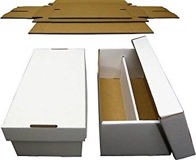 5 New Graded Card Shoe Box 2 Row Cardboard Storage Baseball Football Basketball