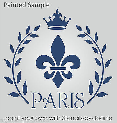 Fleur Stencil Border Fluer Diamond French Shabby Cottage Decor Art Sign U paint