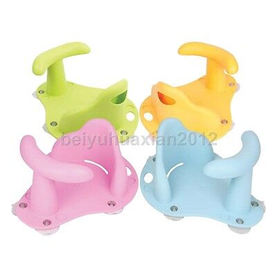 Child Toddler Kids Anti Slip Safety Chair Baby Bath Seat Ring Tub Infant 4Colors