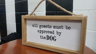 Dog Sign: Metal Shabby Chic Tin Vintage Rustic Hanging Wall Paws Art Home Decor
