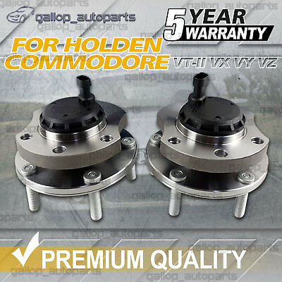 LH+RH Front Wheel Bearing Hubs for Holden Commodore VT 2 VY VX VU VZ WH WK ABS