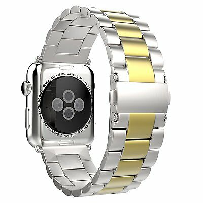 Stainless Steel Watch Band Strap + Adapters For Apple Watch iWatch 38mm 42mm