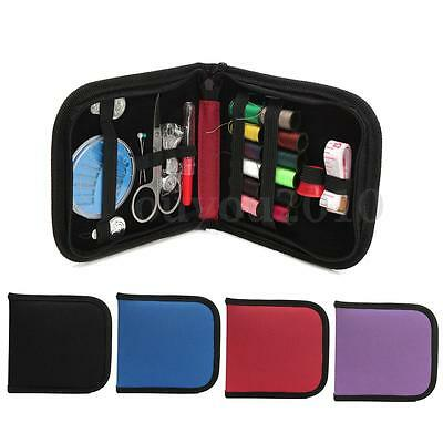 Portable Travel Sewing Kit Case Home Thread Needle Tape Scissor Button Handcraft