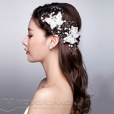 1Pcs Bridal Wedding Pearl Crystal Rhinestone Hair Clip Pin Headpiece Accessories