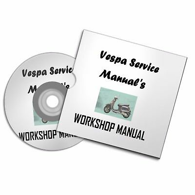 Vespa Piaggio Scooter Manual Owner Repair Workshop Collection Books Free P&p