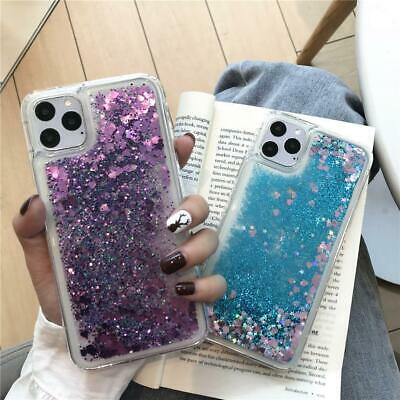 Heart Bling Moving Liquid Glitter Case Cover For iPhone 11 Pro Max XS XR X 8 7 6