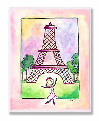 Stupell Industries The Kids Room Girl In Paris Wall Plaque