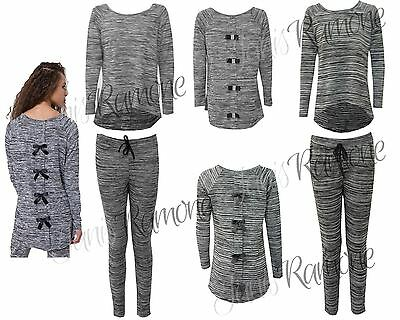 New Back Bow Tie Diamante Womens Loungewear Ladies Hi Lo Two Piece Set Tracksuit